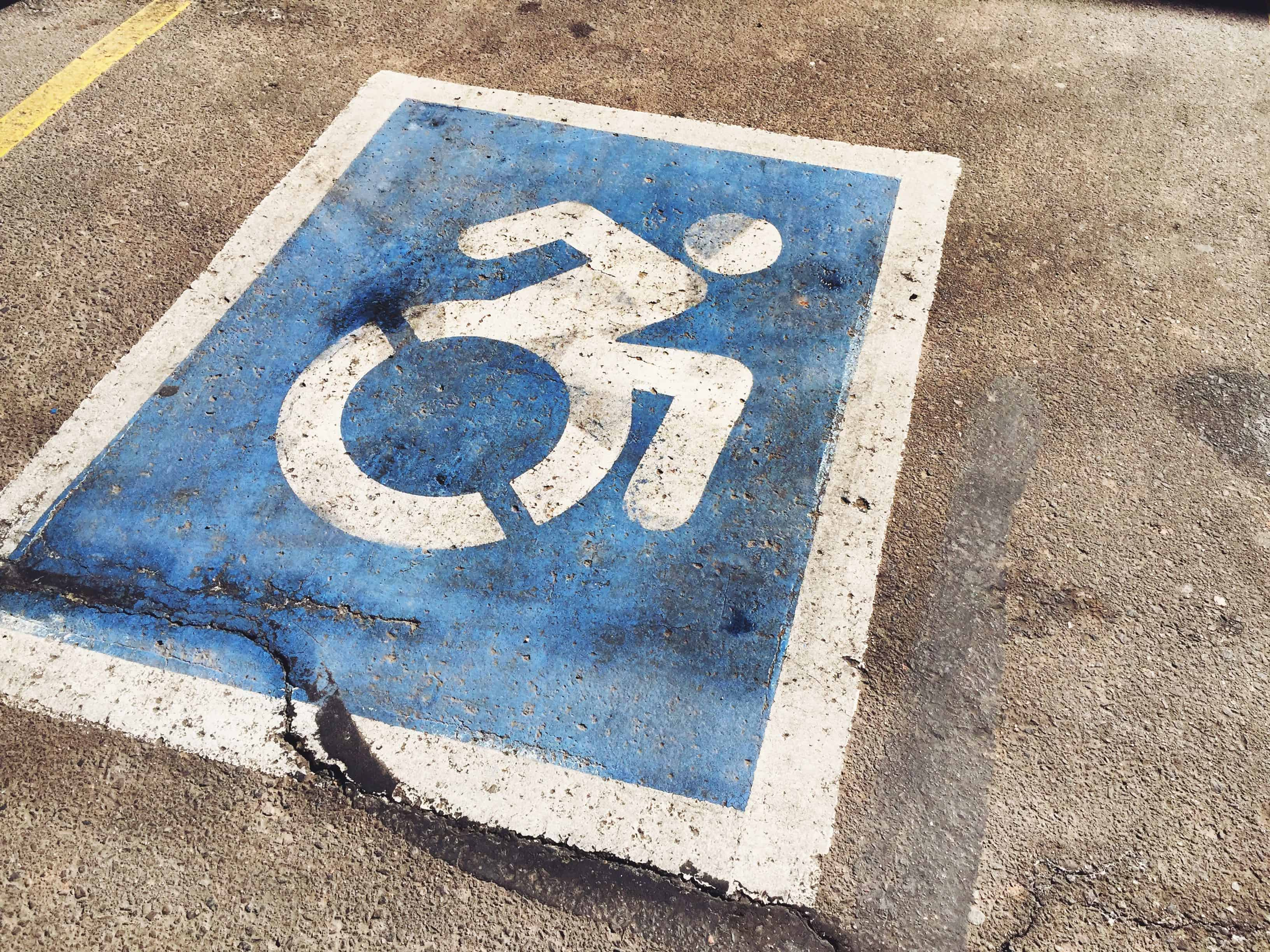 An image of handicap parking by Shawn Campbell