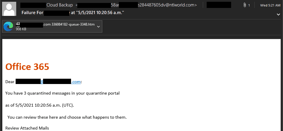 A screenshot of a phishing email with a credential